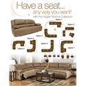 Signature Design by Ashley Furniture Hogan - Mocha Zero Wall Recliner with Wide Seat Box - Multiple Configuration Options