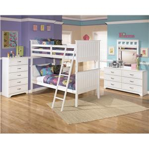 Signature Design by Ashley Lulu Twin Bed with Trundle Drawer Box