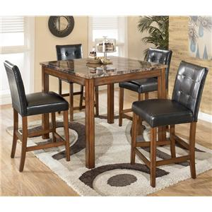 Signature Design by Ashley Theo 5 Piece Square Table Set with 4 Chairs