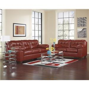 Signature Design by Ashley Alliston DuraBlend® - Salsa Stationary Living Room Group