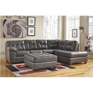 Signature Design By Ashley Maddox Gray Rocker Recliner W Pillow Arms John V Schultz Furniture