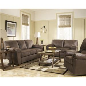 Signature Design by Ashley Furniture Amazon - Walnut Sofa with Pillow Arms
