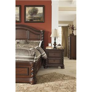 Signature Design by Ashley Brennville King Panel Bed With Barley Twist Accents