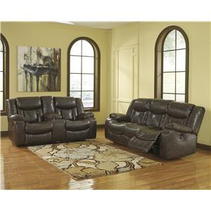 Signature Design by Ashley Carnell - Brown Reclining Living Room Group