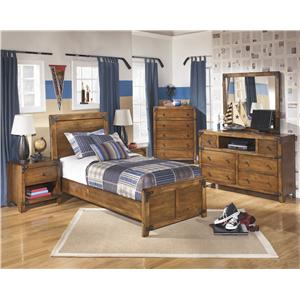Signature design by ashley delburne full bookcase bed with - Ashley wilkes bedroom collection ...