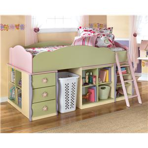 Signature Design by Ashley Doll House Modular Loft Bed w/ Underbed Storage, Opt. D