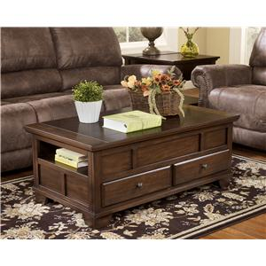 Signature Design by Ashley Gately End Table with Hidden Storage & Electrical Outlet