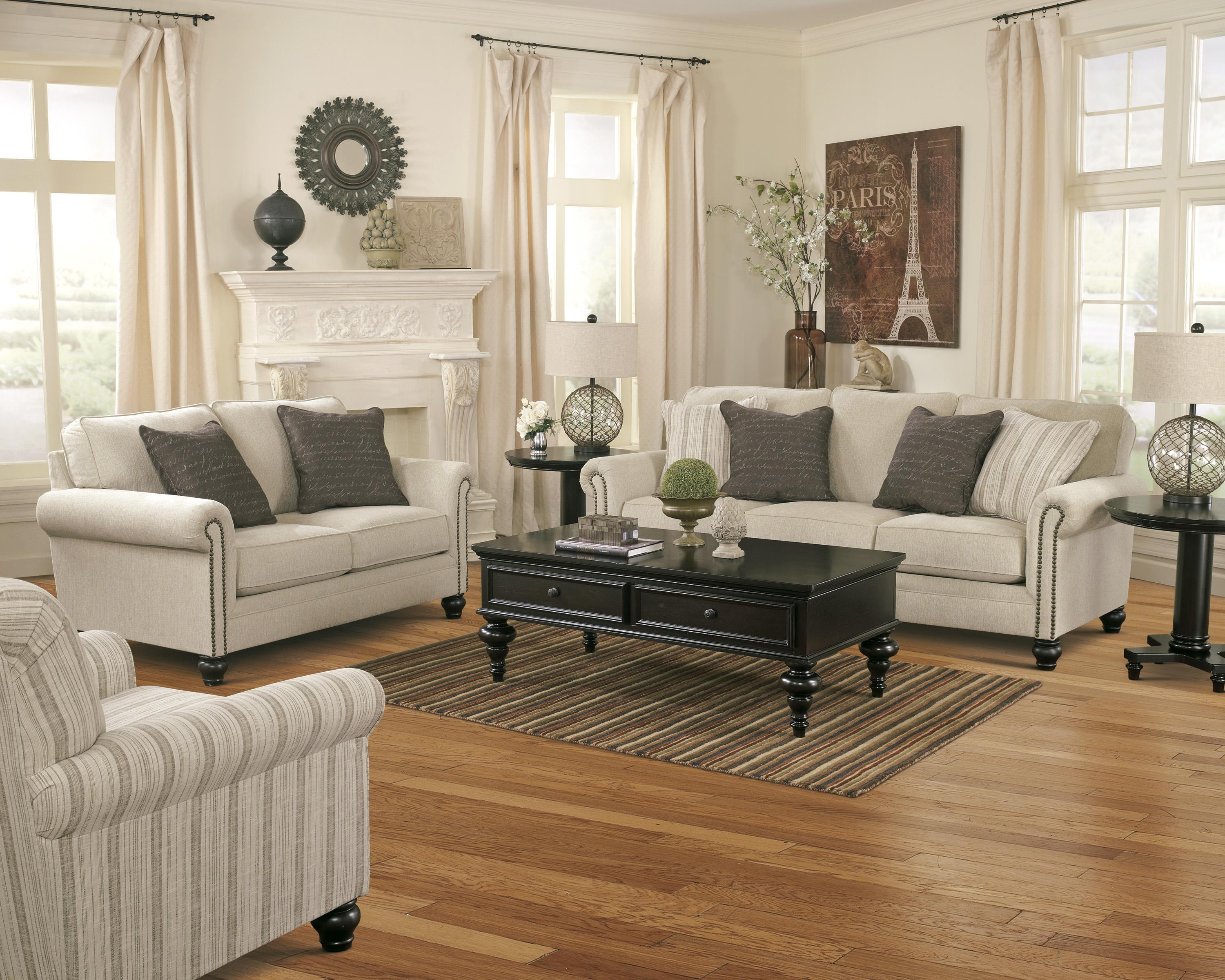 Stationary Living Room Group By Signature Design By Ashley Wolf And Gardiner Wolf Furniture