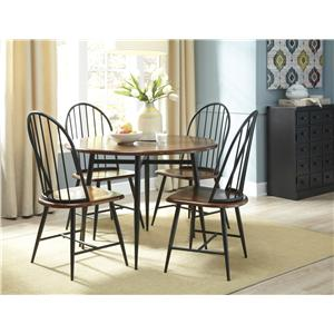 Signature Design by Ashley Shanilee Casual 5 Piece Round Dining Room Set