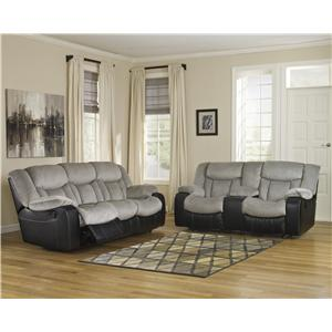 Signature Design by Ashley Tafton - Alloy Reclining Living Room Group