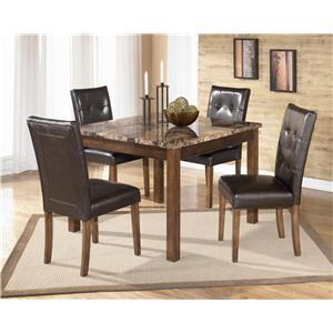 Signature Design by Ashley Theo 5 Piece Square Counter Height Table Set with Bar Stools