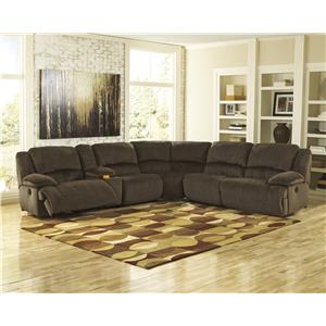 Signature Design by Ashley Toletta - Chocolate Wide Seat Power Recliner