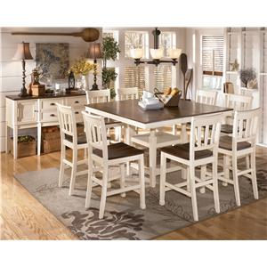 Signature Design By Ashley Whitesburg Two Tone Dining Room