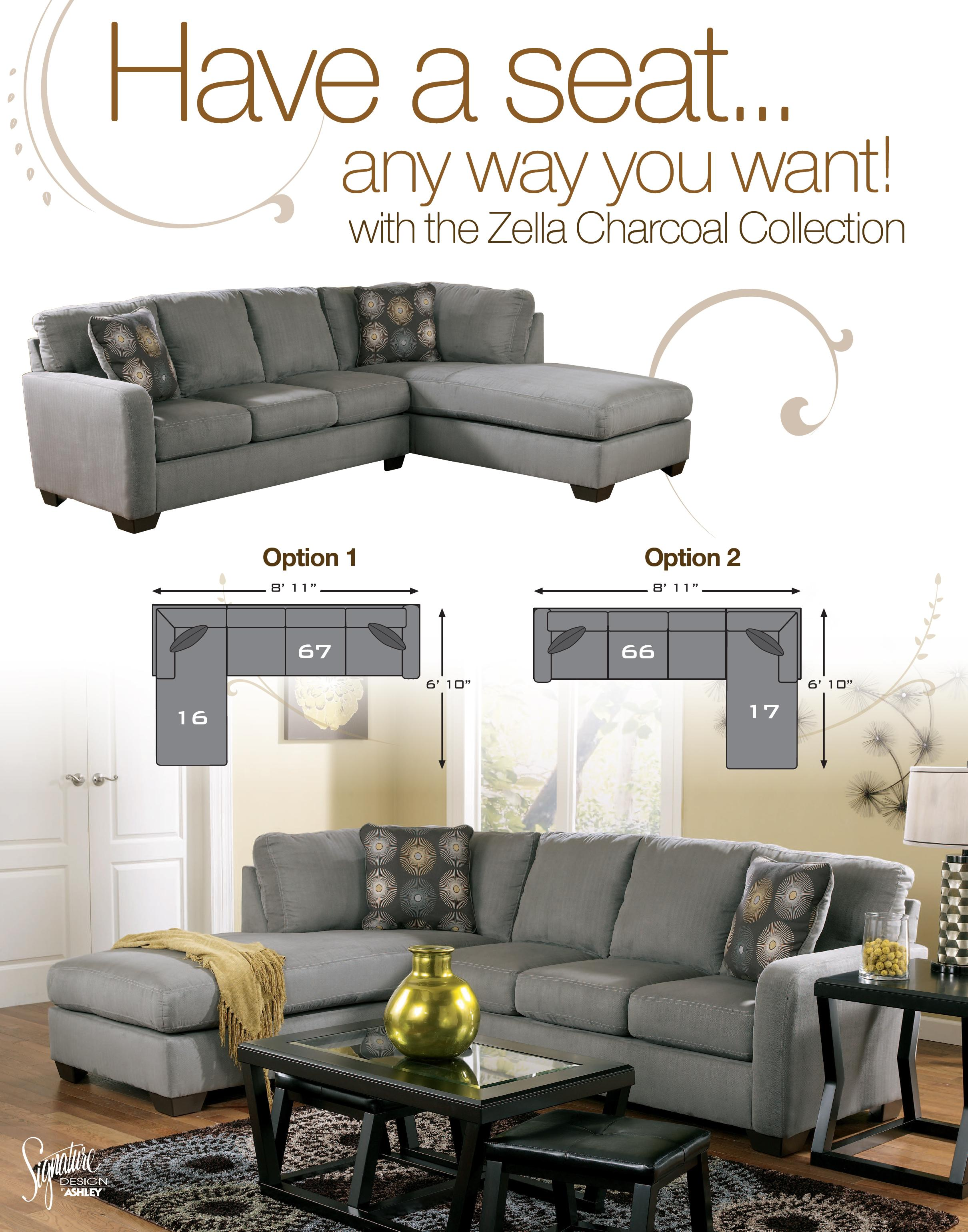 Contemporary Sectional Sofa with Left Arm Facing Chaise by