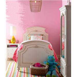 Smartstuff Gabriella Mirrored One-Door Armoire with Cork Board & Variety of Storage Spaces