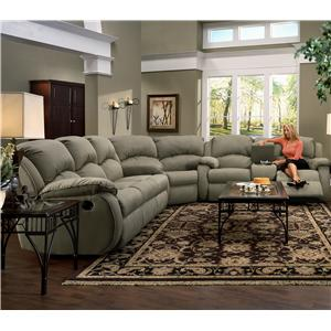 Southern Motion Cagney Comfy and Convenient Console Sofa with Reclining Chairs and Cup-Holders