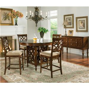 Standard Furniture Woodmont Rectangular Leg Dining Table with Turned Legs & 18