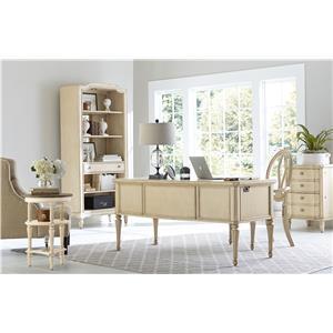 Stanley Furniture European Cottage Three Drawer Night Stand with Wood Veneer