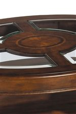 Glass and Wood Combination Table Tops