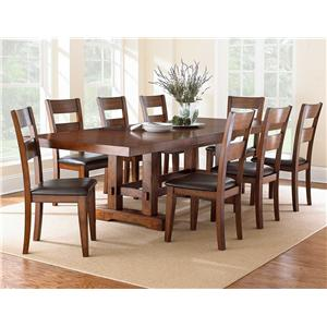Steve Silver Zappa 9 Piece Counter Height Table & Chair Set