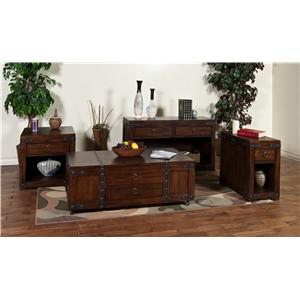 Sunny Designs Santa Fe Traditional 2 Drawer 2 Door TV Console