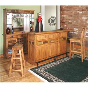 Sunny Designs Sedona Rustic Oak 4 Piece Breakfast Nook Set with Side Bench