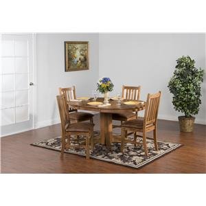 Sunny Designs Sedona Dining Table with Slate Edge