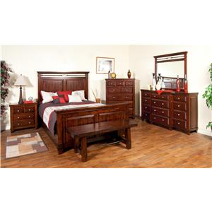 Sunny Designs Vineyard Queen Bedroom Group