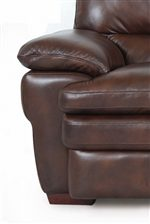 Superb Creations 7454 3 Cushion Leather Sofa Sofadealers Com