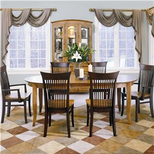 Thomasville® Color Café - Custom Dining Customizable 7 Piece Table and Chair Set
