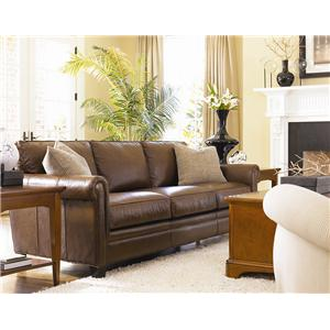 Thomasville® Mercer Series Leather Chair with Track Arms