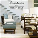 Tommy Bahama Home Ocean Club Ma-Holla Rattan Top Cocktail Ottoman