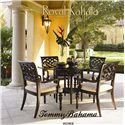 Tommy Bahama Home Royal Kahala Sumatra Ottoman with Cane & Leather Wrapping