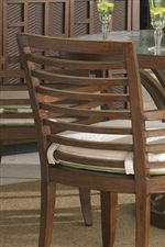 Chair Backs Feature Striking Horizontal Design Motifs for a Contemporary Look