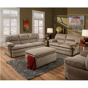 United Furniture Industries 6120 Stationary Living Room Group
