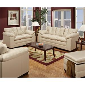 Simmons Upholstery 6569 Stationary Living Room Group