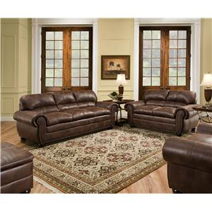 United Furniture Industries 7510 Stationary Living Room Group