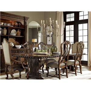Universal Escalera Formal Dining Room Group