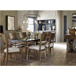 Universal New Bohemian Formal Dining Room Group