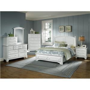 Vaughan Bassett Hamilton Franklin King Panel Storage Bed