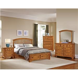 Vaughan Bassett Forsyth King Panel Storage Bed