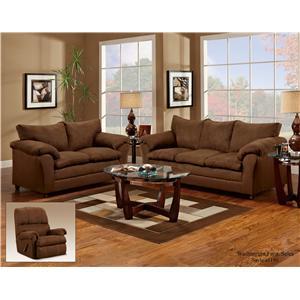 Washington Furniture 1150 Casual Pillow Top Loveseat