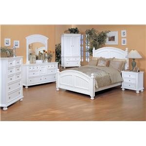 Winners Only Cape Cod  Queen Bedroom Group