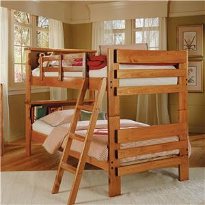 Woodcrest Heartland BR Twin Bunk Bed with Scalloped Details