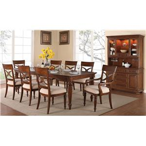 Flexsteel Wynwood Collection American Heritage Formal Dining Room Group