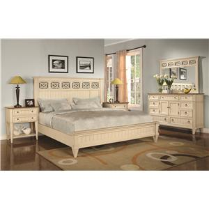 Flexsteel Wynwood Collection Garden Walk Nine-Drawer Dresser