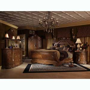 Michael Amini Cortina Queen Bedroom Group