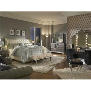 Michael Amini Hollywood Swank California King Bedroom Group