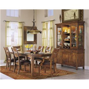 Klaussner International Urban Craftsmen Formal Dining Room Group