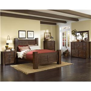 Progressive Furniture Trestlewood Queen Bedroom Group